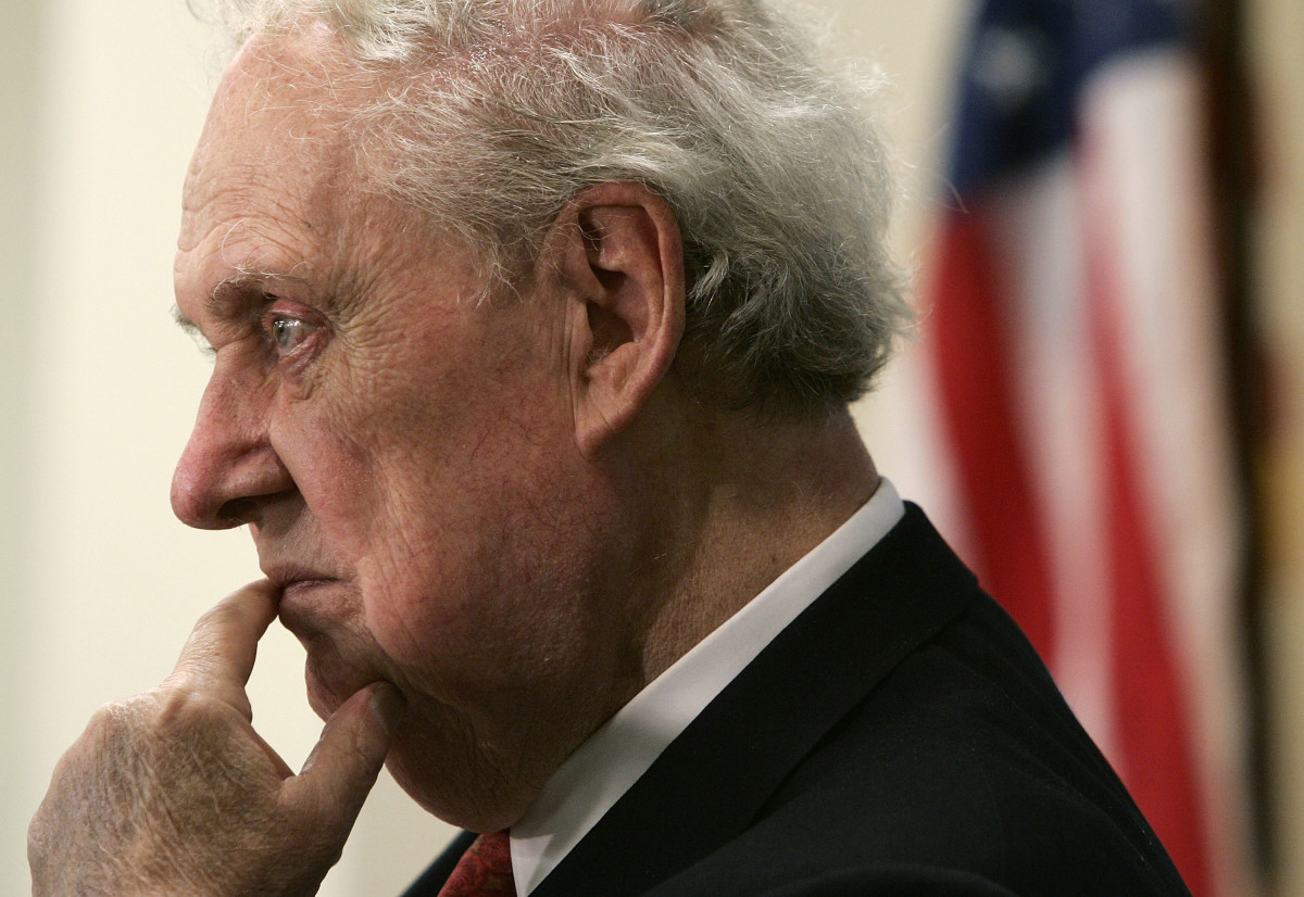 Former Supreme Court nominee Robert Bork, pictured here in 2005.