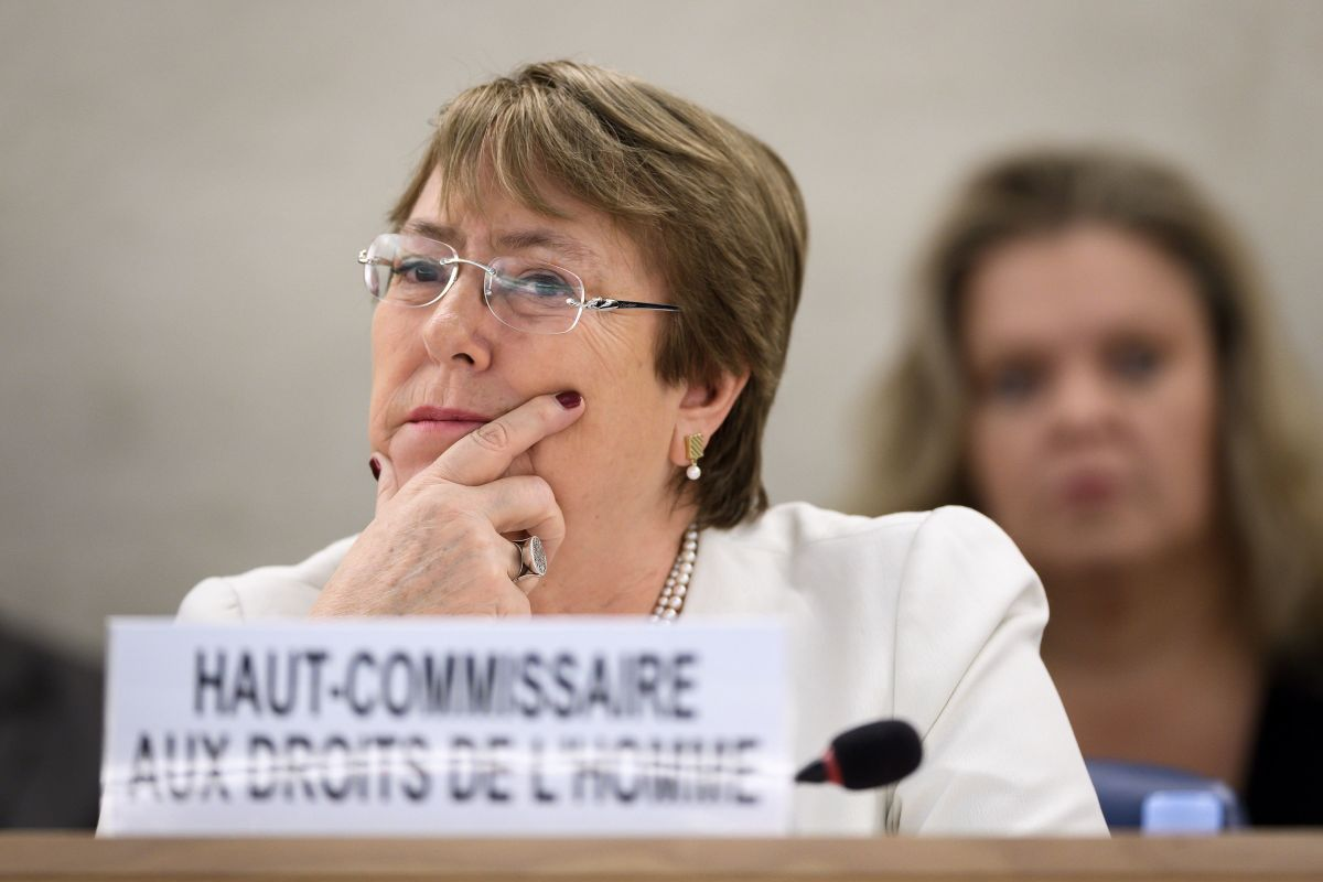 New High Commissioner for Human Rights Michelle Bachelet attends the opening day of the 39th U.N. Council of Human Rights in Geneva on September 10, 2018.