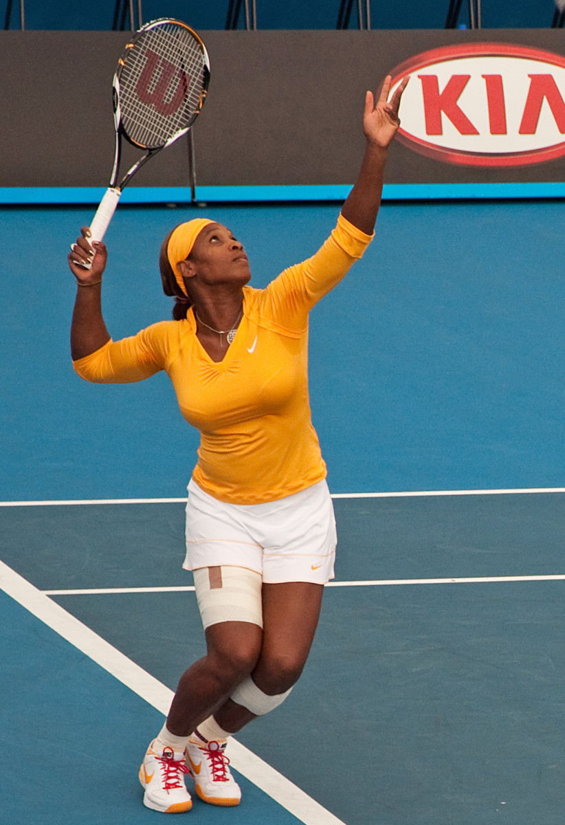 Serena Williams, pictured here the 2010 Australian Open.