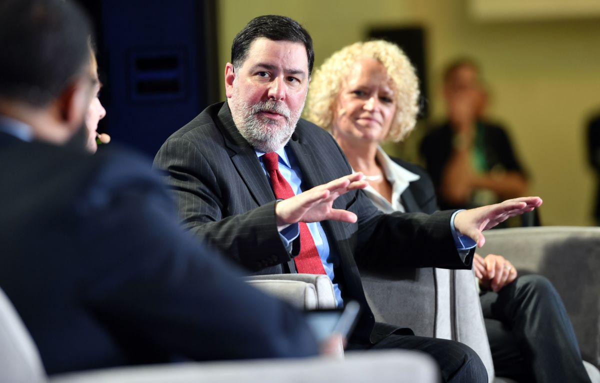 "Pittsburgh Mayor Bill Peduto speaks during a panel discussion at the C40 Cities ""The Future Is Us"" kickoff event at San Francisco's City Hall on September 12th, 2018."