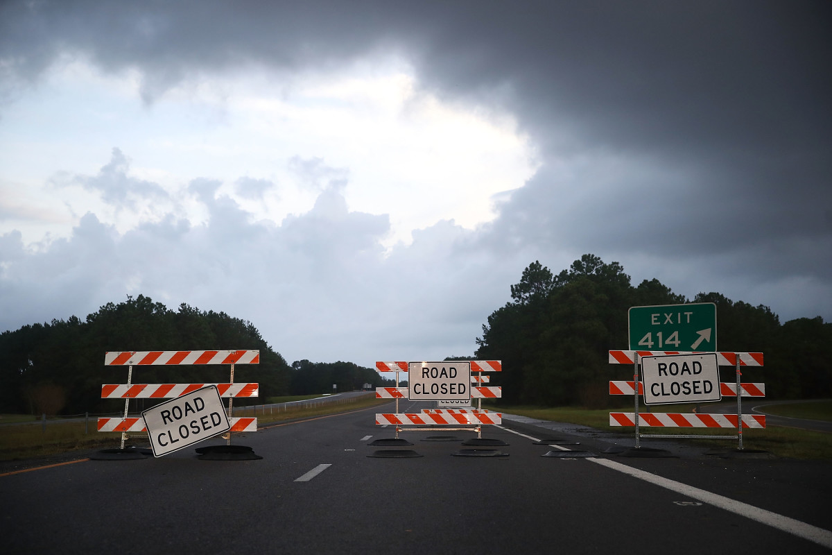 A highway outside Wilmington, North Carolina, on September 17th, 2018.
