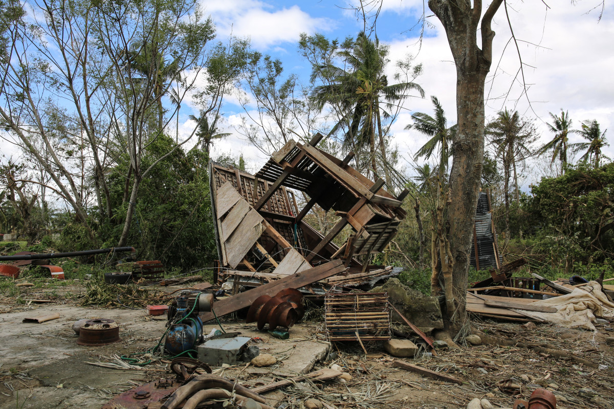 A house lies overturned outside Baggao, a farming town in the northern Philippines where Typhoon Mangkhut first made landfall.