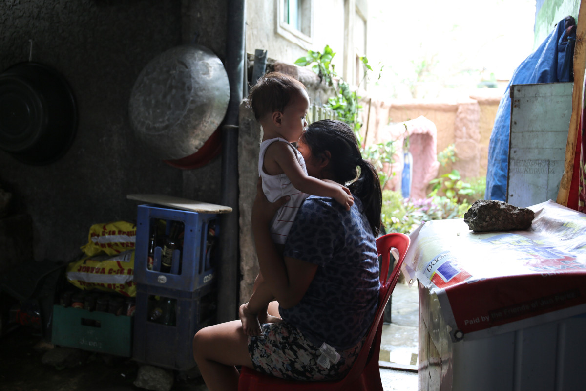 """Maria Serrano, Jerry's daughter, says that farmers are most affected by the typhoon, as many did not manage an early harvest before it hit. """"We were reliant on the corn from my father's fields, but now it is all gone,"""" she says."""