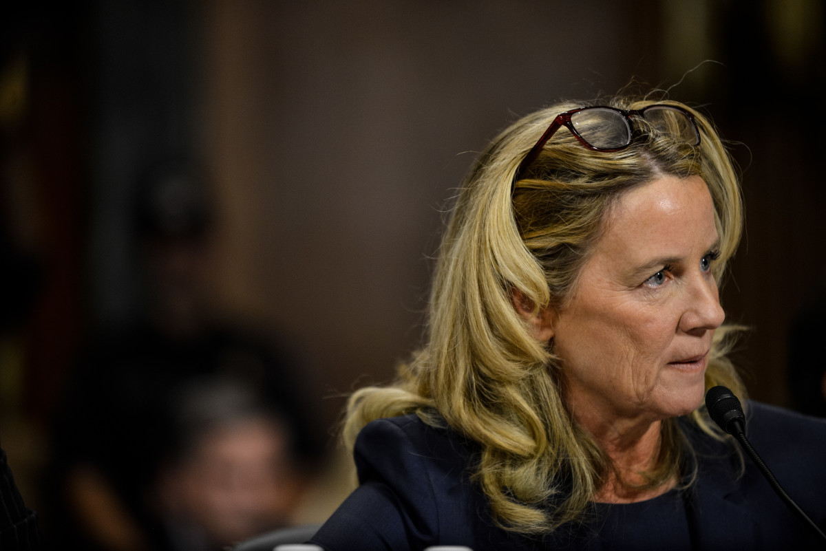 Christine Blasey Ford testifies before the Senate Judiciary Committee on September 27th, 2018.