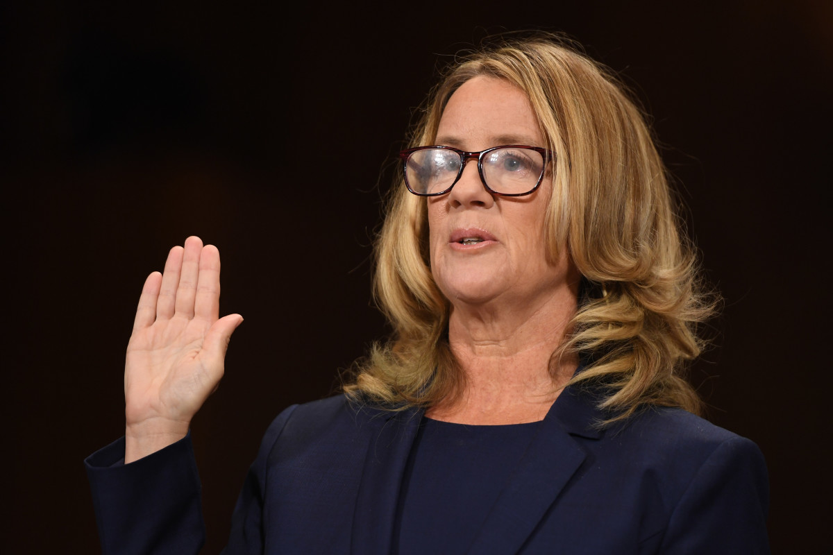 Christine Blasey Ford, the woman accusing Supreme Court nominee Brett Kavanaugh of sexually assaulting her at a party 36 years ago, testifies before the Senate Judiciary Committee on Capitol Hill in Washington, D.C., on September 27th, 2018.