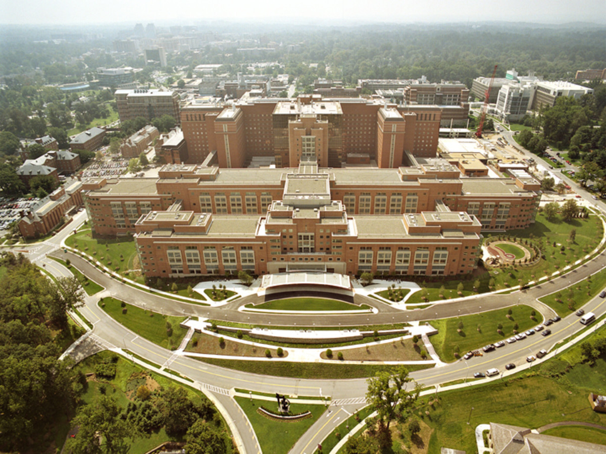 The NIH headquarters in Bethesda, Maryland.
