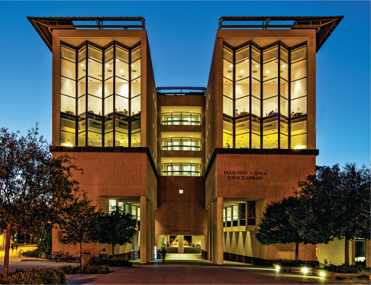 The Francisco J. Ayala Science Library, which has since been renamed the Science Library.