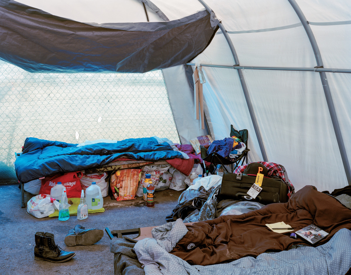 """If you have a tent city like this, at least you can be safe. Nobody understands that. Everybody thinks the tent cities are just a waste of time."""