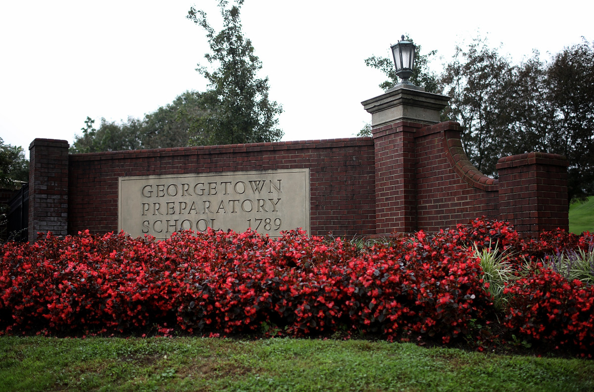 The entrance to Georgetown Preparatory School in Bethesda, Maryland.