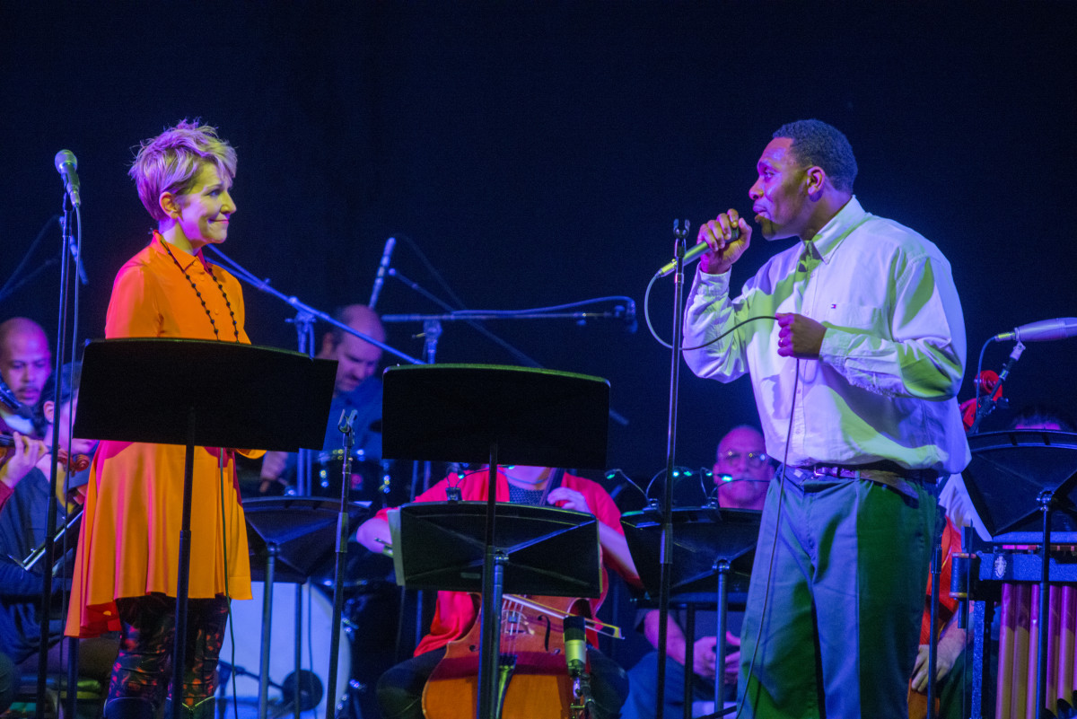 Joe Wilson sings with Joyce DiDonato.