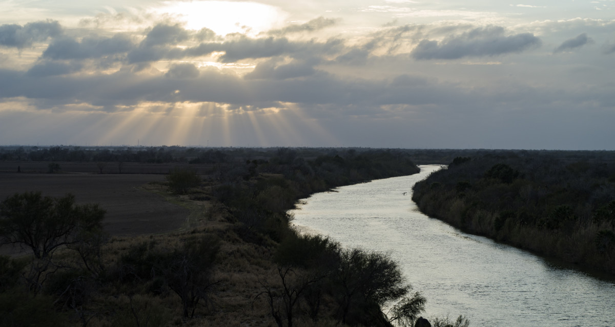 The Rio Grande river.