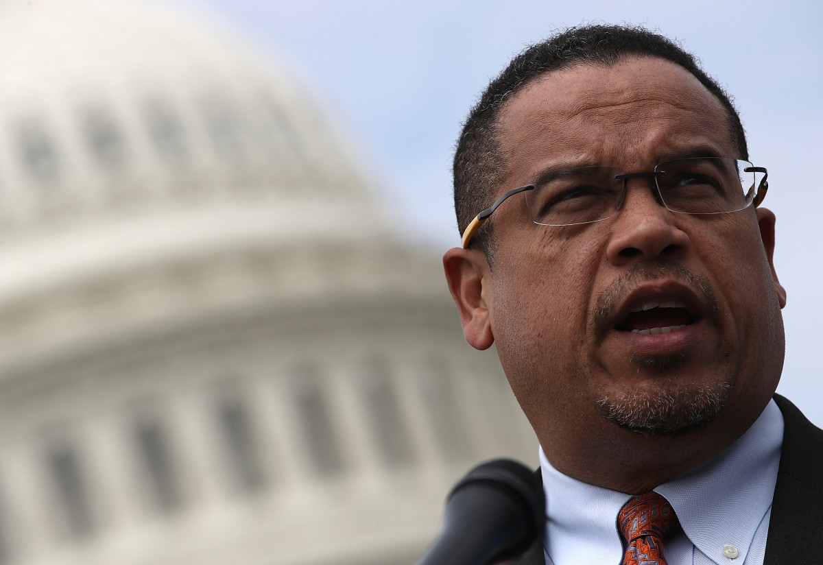 Representative Keith Ellison outside the U.S. Capitol in Washington, D.C., on March 21st, 2017.