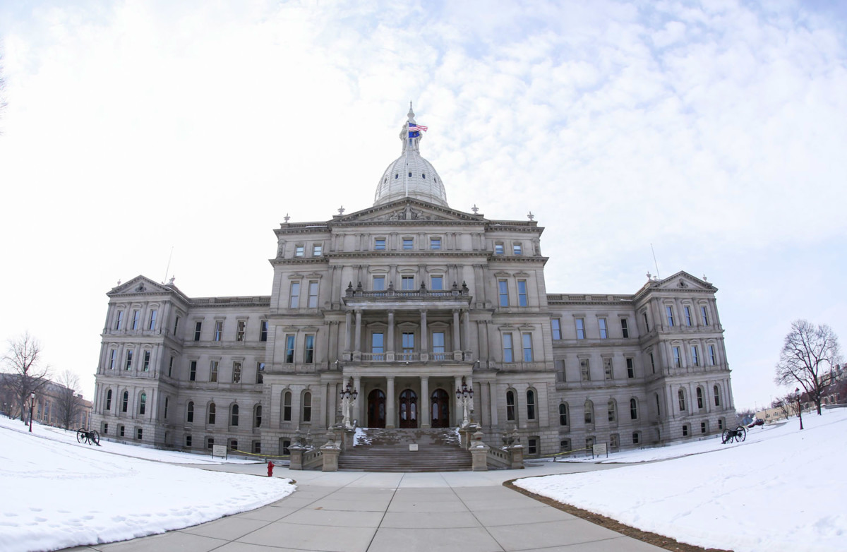 The State Capitol Building in Lansing, Michigan.