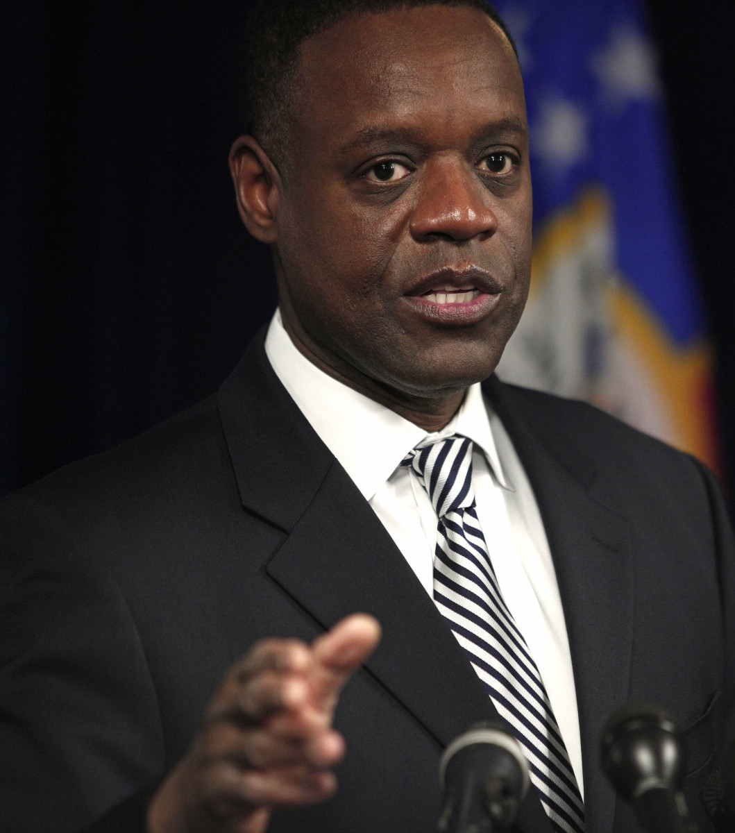 Detroit Emergency Manager Kevyn Orr holds a press conference to discuss federal bankruptcy.