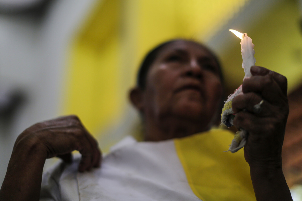 Catholics participate in a mass demanding the freedom of political prisoners in Managua, Nicaragua, on October 21st, 2018.