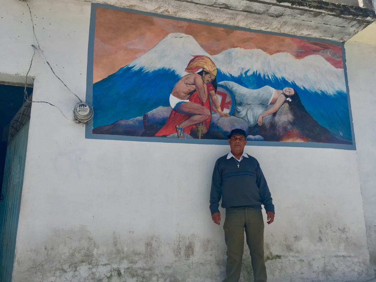 Don Antonio Analco stands in front of his home in Santiago Xalitzintla, on August 31st, 2018.