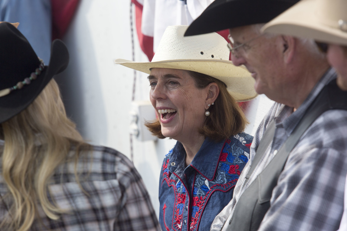 Governor Kate Brown attends the Pendleton rodeo on September 15th, 2017, in Pendleton, Oregon.