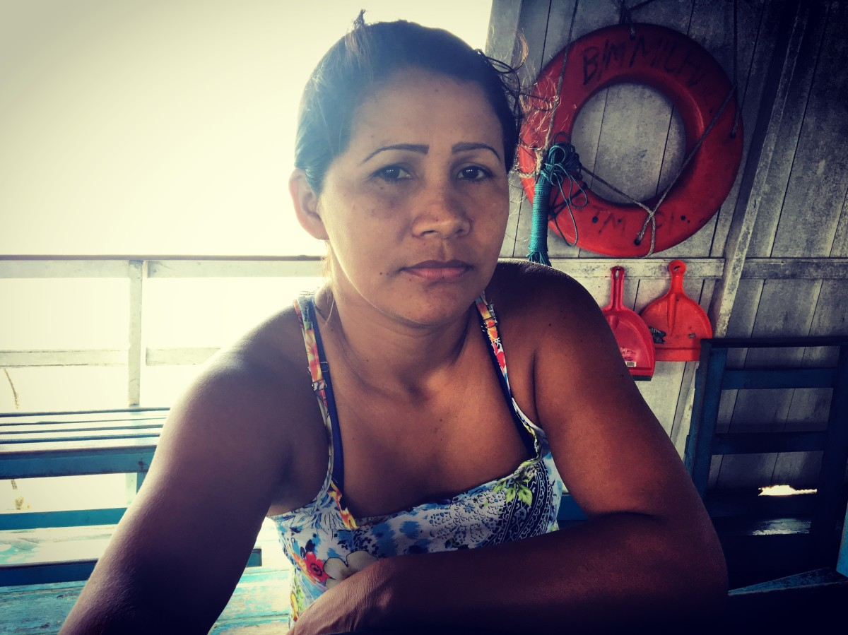 Maria Aparecida de Aquino is a schoolteacher who takes the boat Michael twice a month so she can restock supplies her students. She voted for leftist Fernando Haddad.