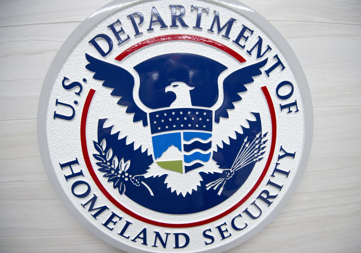 The Department of Homeland Security logo.