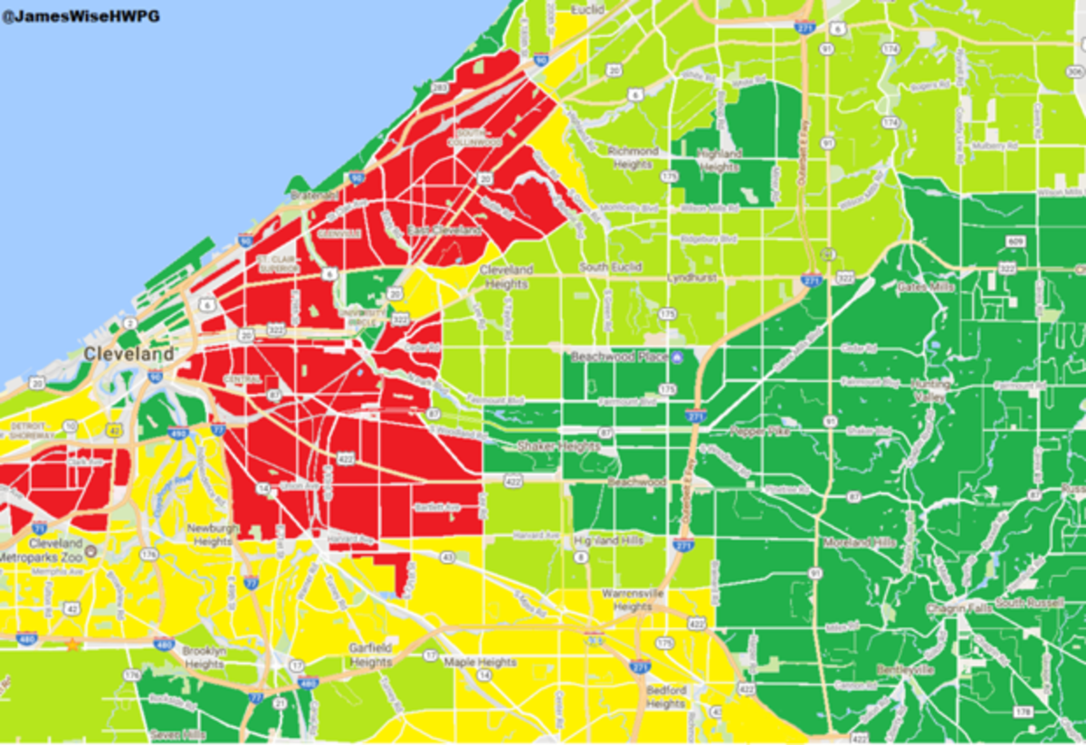 East Cleveland Map