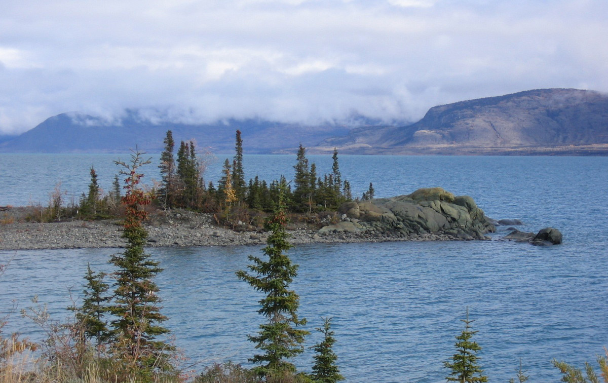 Kluane Lake.