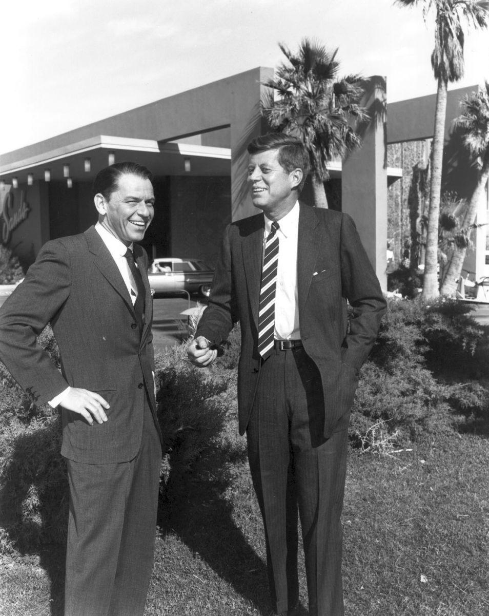 Frank Sinatra with former U.S. President John F. Kennedy.