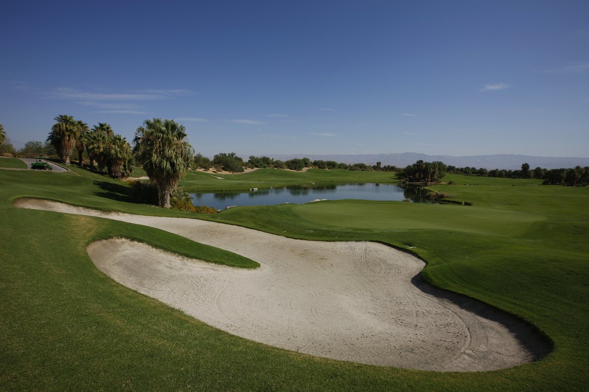A golf course in the Palm Desert in Coachella Valley, California.