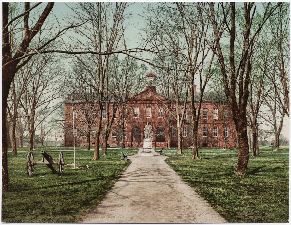 William and Mary College in Williamsburg, Virginia, circa 1902.