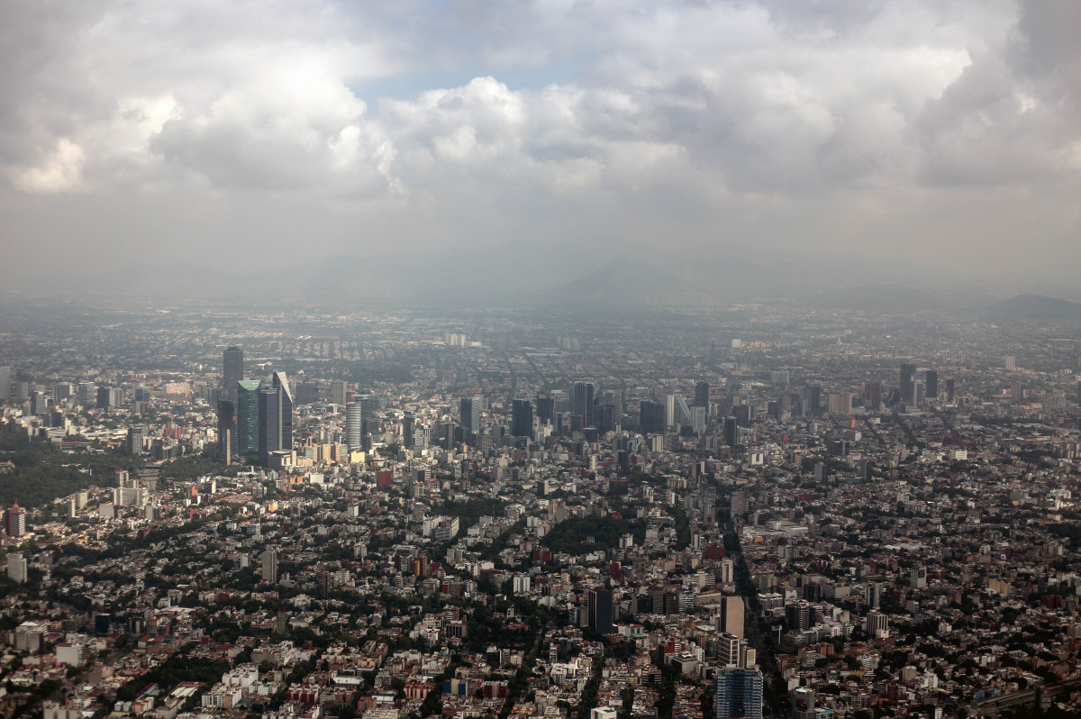 Aerial view of the Reforma Sector in Mexico City on September 24th 63c34887361
