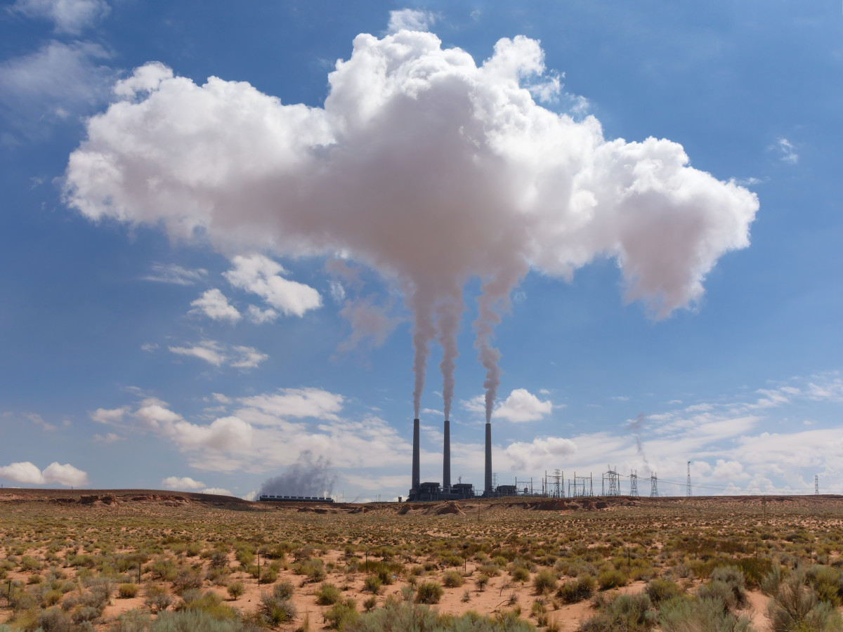 The Navajo Generating Station, a coal-fired power plant outside Page, Arizona.