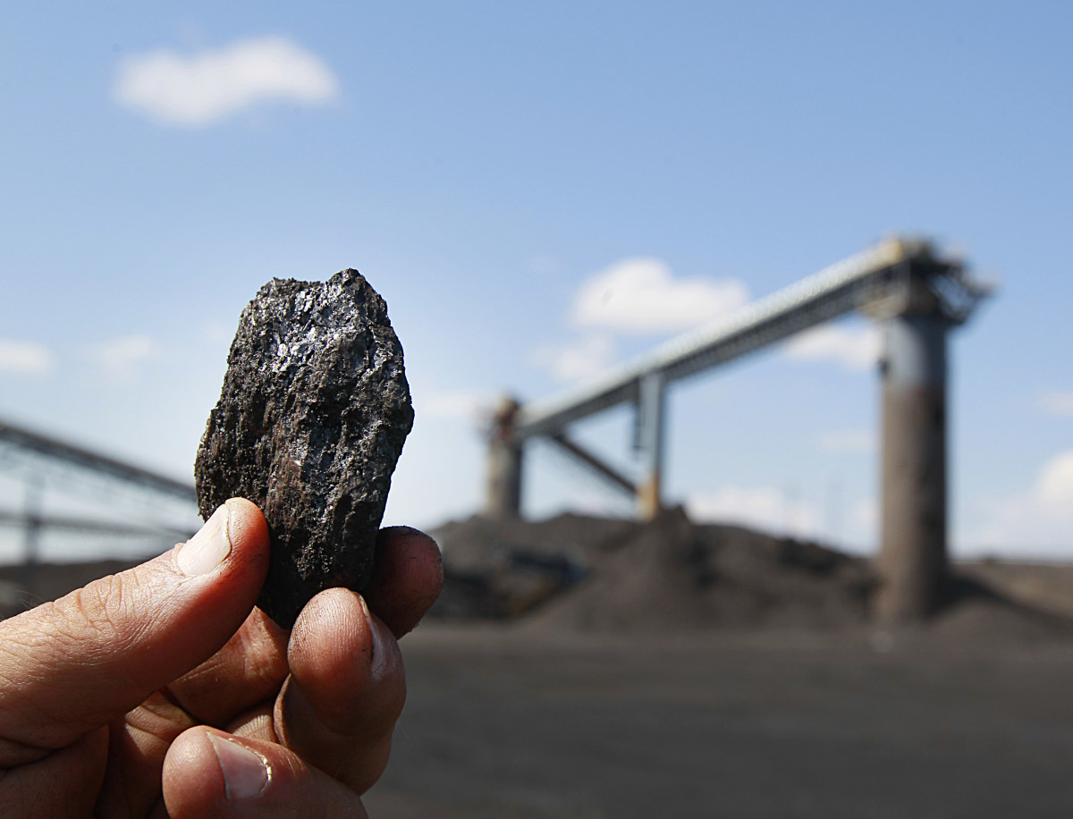 A piece of coal at the Savage Energy Terminal on August 26th, 2016, in Price, Utah.