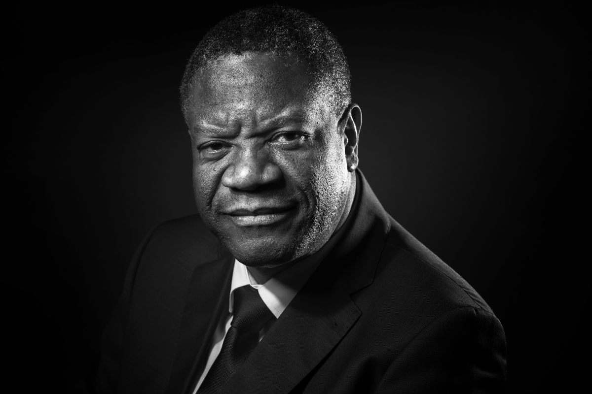 Congolese gynecologist Denis Mukwege poses during a photo session in Paris on October 24th, 2016.