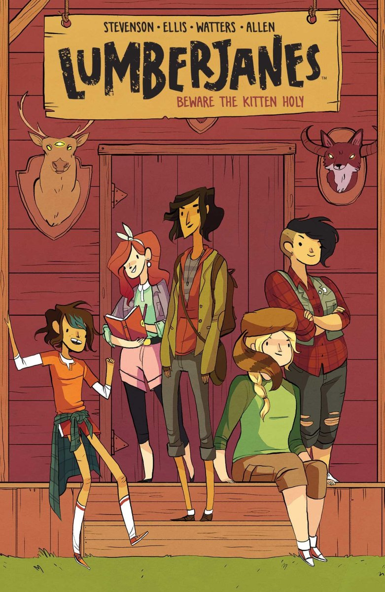 Lumberjanes' first volume.