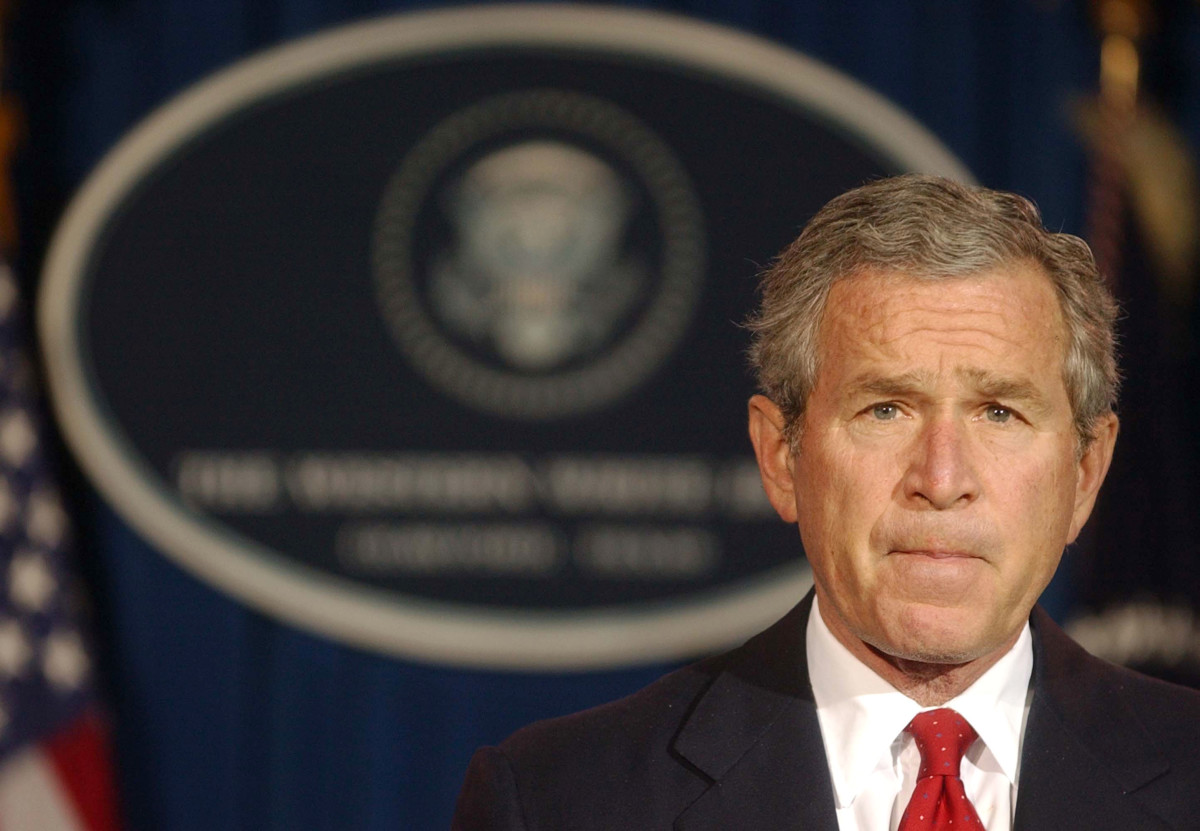 President George W. Bush, pictured here in 2004.