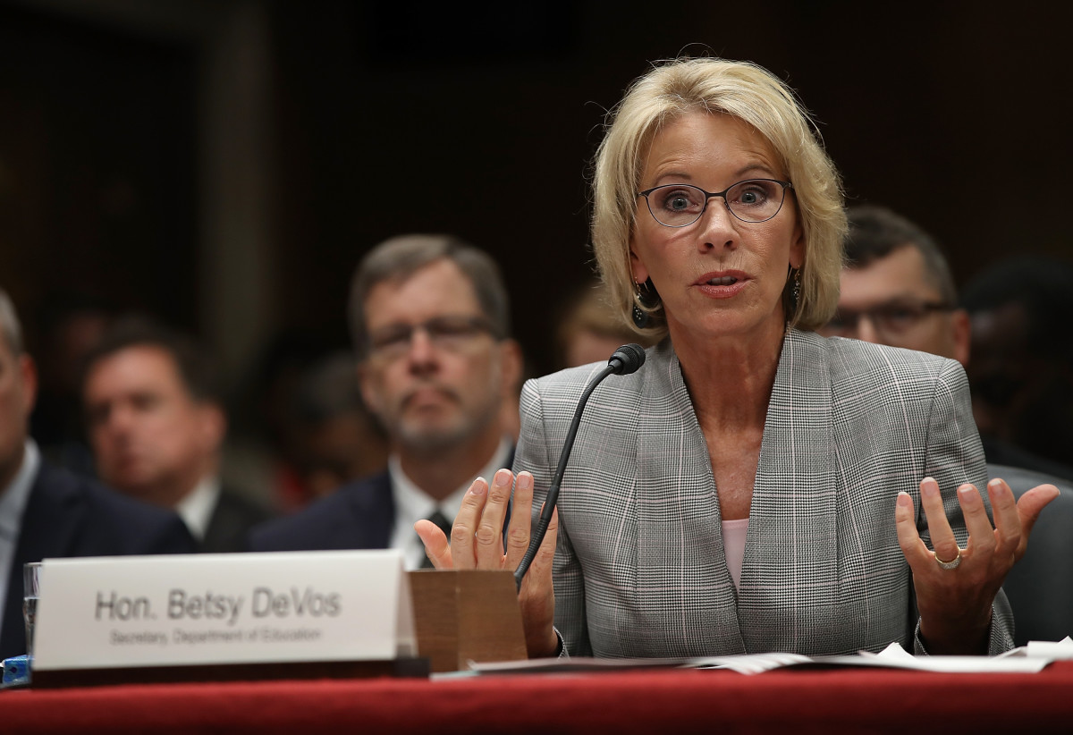 Secretary of Education Betsy DeVos, pictured here in June of 2017.