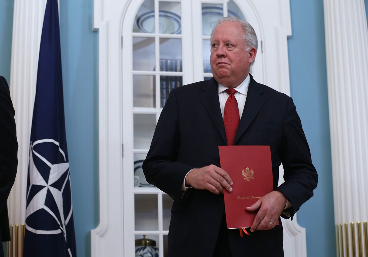 U.S. Undersecretary of State for Political Affairs Thomas Shannon during a ceremony at the Department of State on June 5th, 2017, in Washington, D.C.