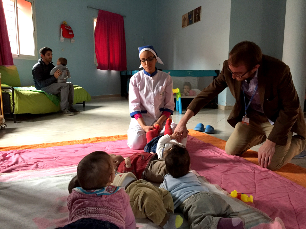 Senior editor Ted Scheinman at La Ligue Marocaine pour la Protection de l'Enfance (LMPE) in Marrakech, Morocco.
