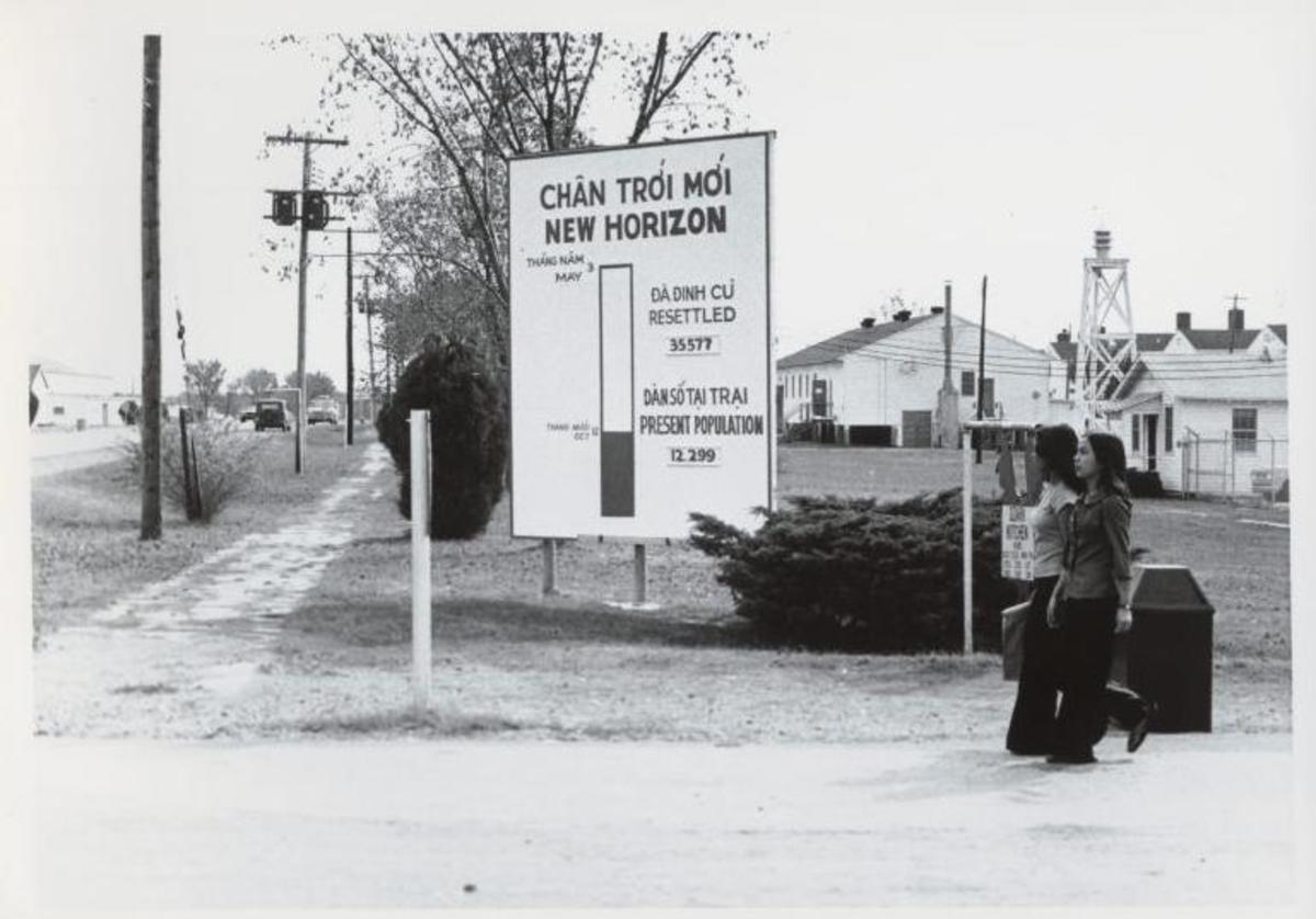 Vietnamese refugees at Fort Chaffee, Arkansas, during the late 1970s.