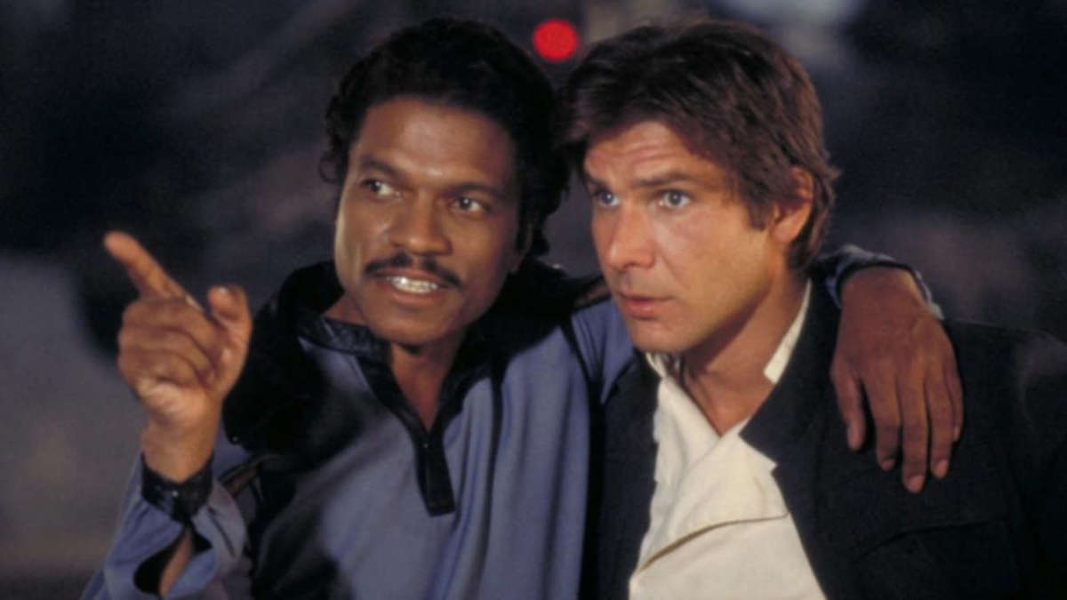 billy dee williams as lando calrissian with harrison ford