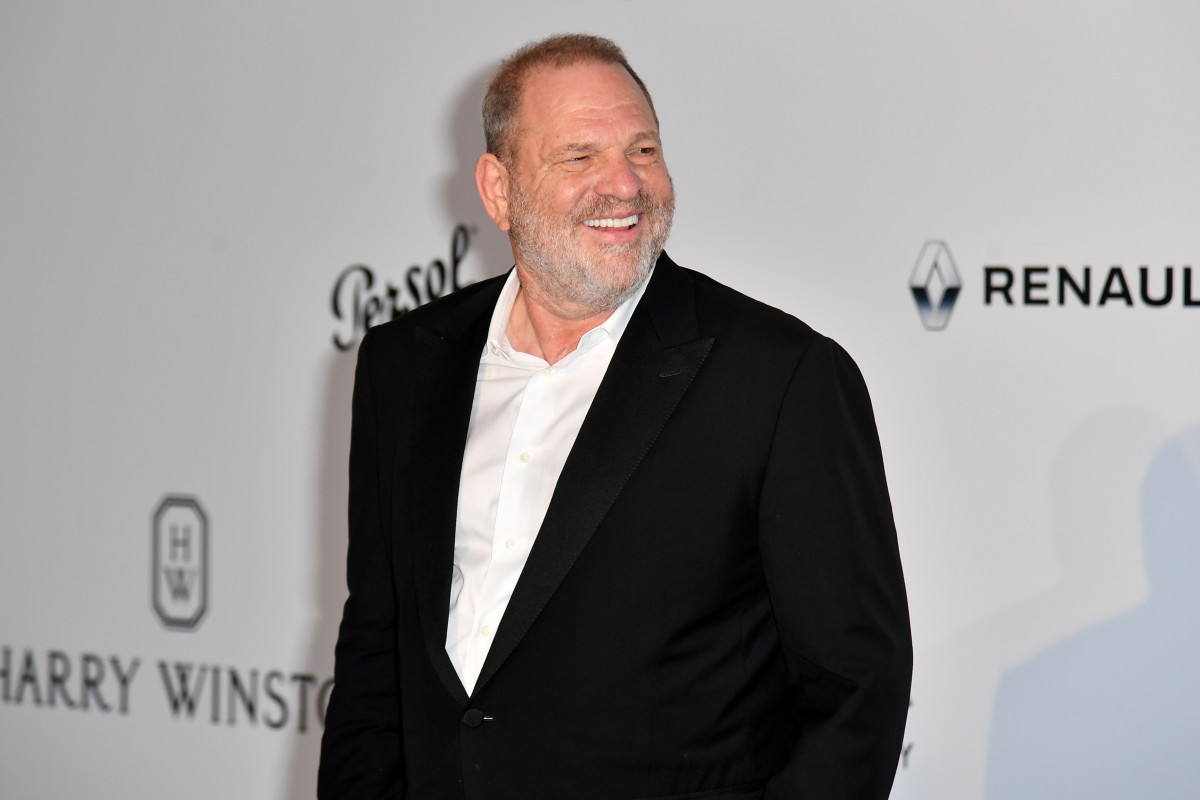 Harvey Weinstein poses as he arrives for a gala on May 25th, 2017, at the Hotel du Cap-Eden-Roc in Cap d'Antibes, France.