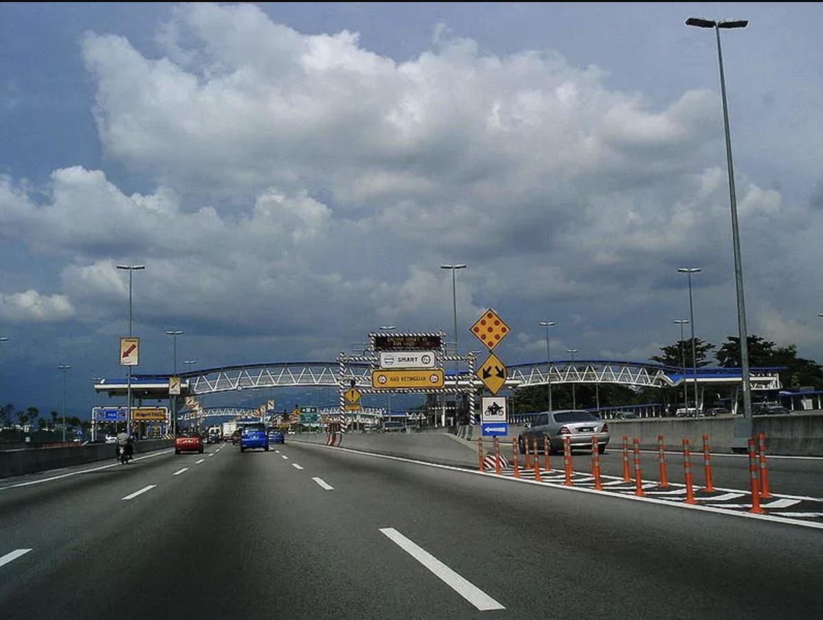 The entrance to Kuala Lumpur's smart tunnel.