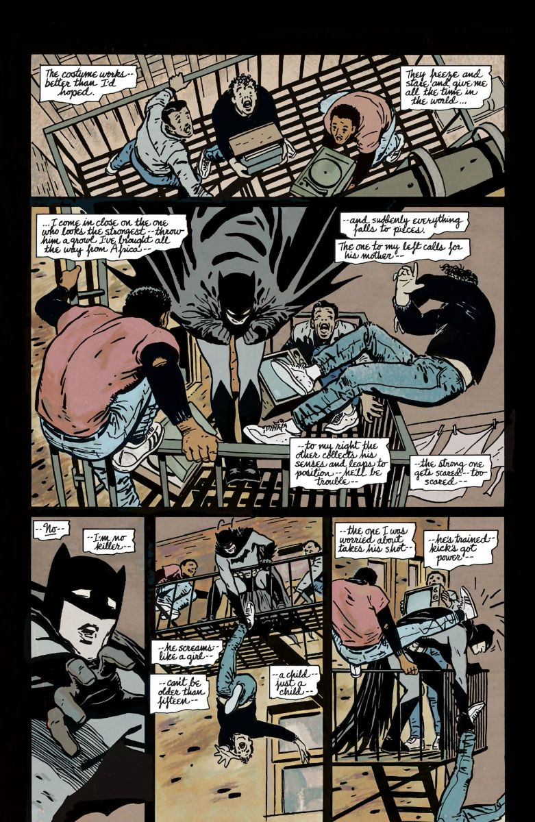 A page from Batman: Year One.
