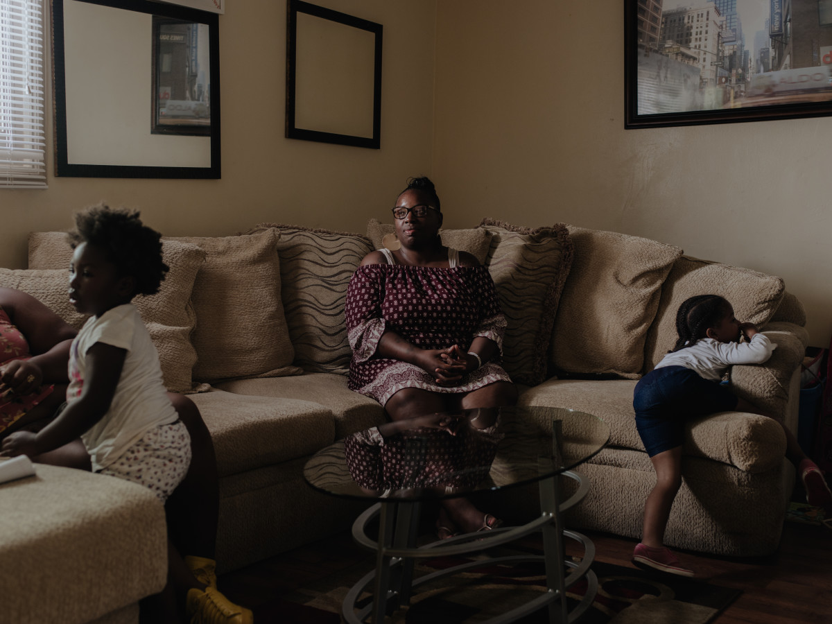 Ingrid Archie at her home in Los Angeles. She got her felony marijuana conviction reduced to a misdemeanor and is now eligible for expungement.