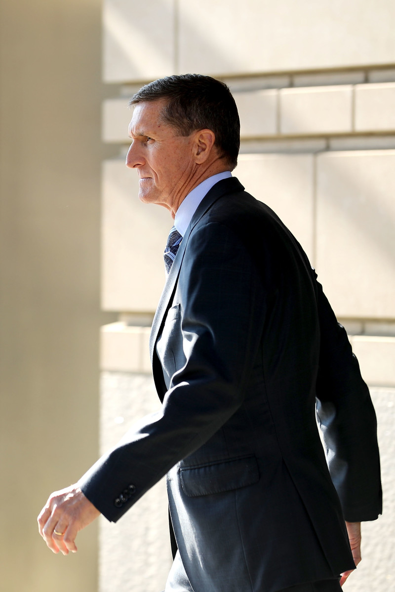 Michael Flynn, former national security advisor to President Donald Trump, leaves following his plea hearing at the Prettyman Federal Courthouse on December 1st, 2017, in Washington, D.C.
