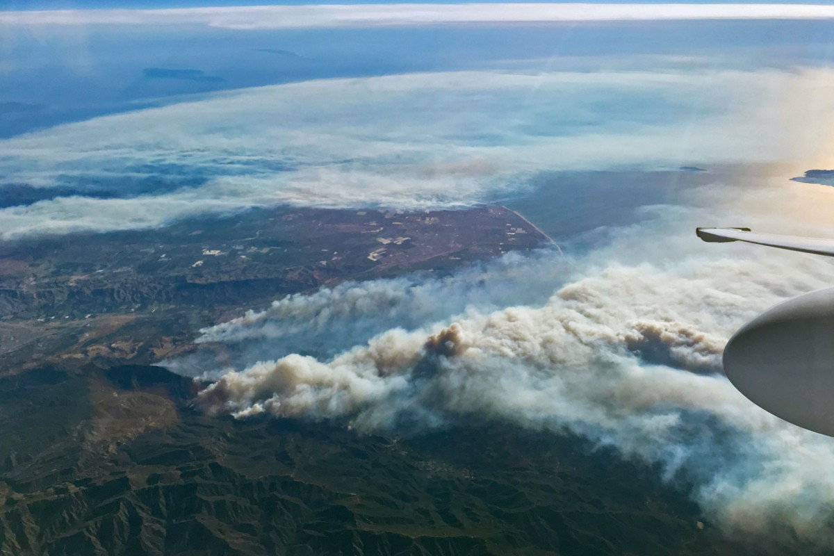 The Southern California wildfires could be seen by the International Space Station crew from their vantage point in low Earth orbit.