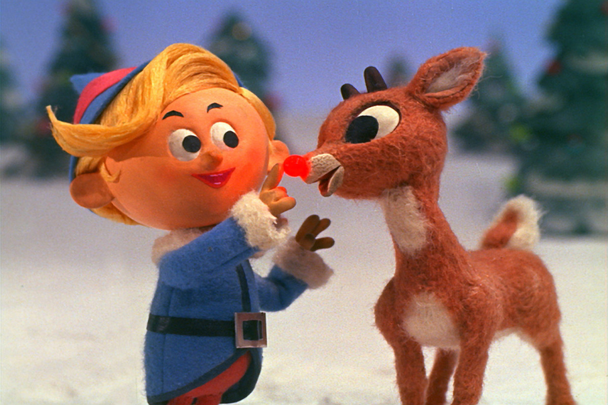 Young Rudolph (right) and Hermey the Elf as seen in the 1964 television special, Rudolph the Red-Nosed Reindeer.