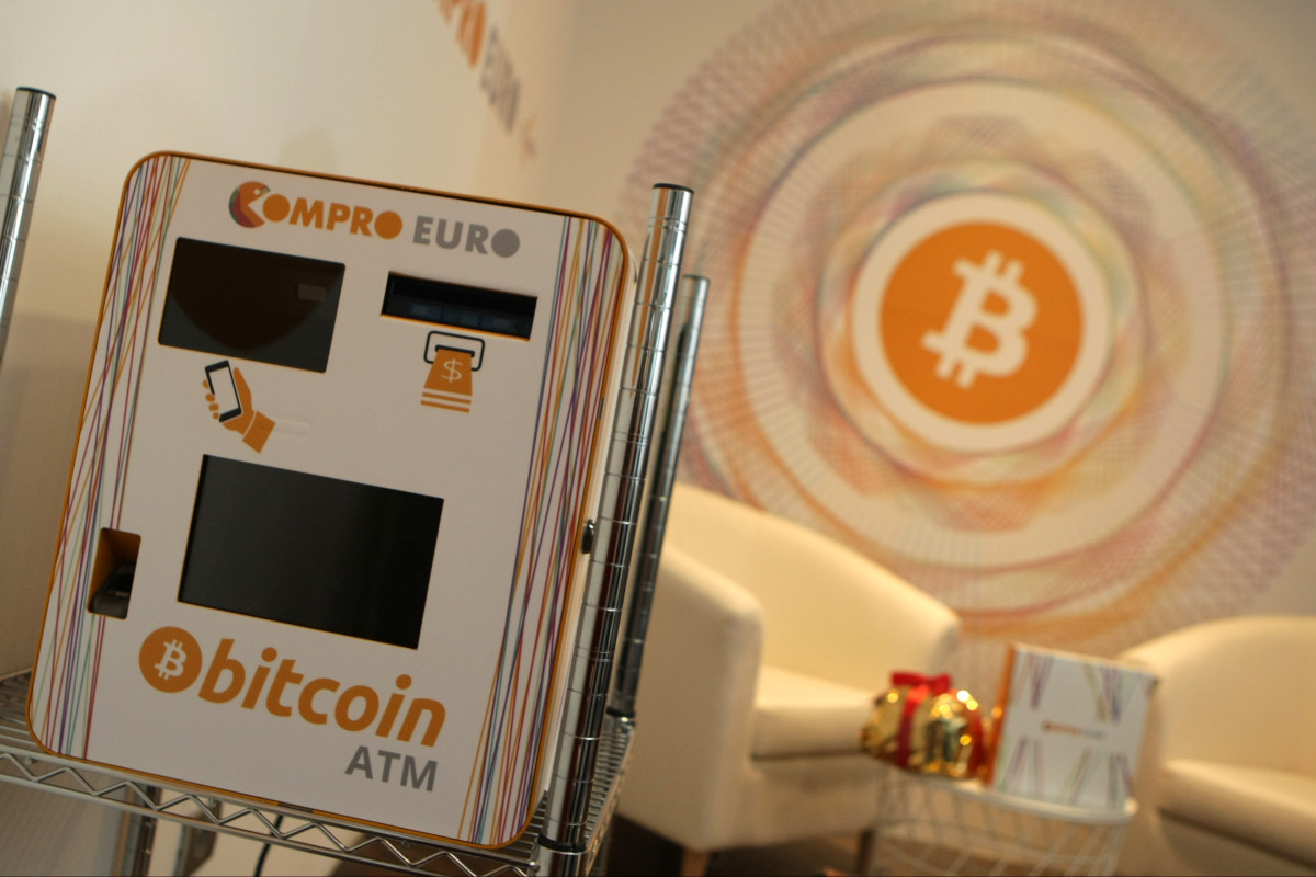 A Bitcoin teller machine in Rovereto, Italy.