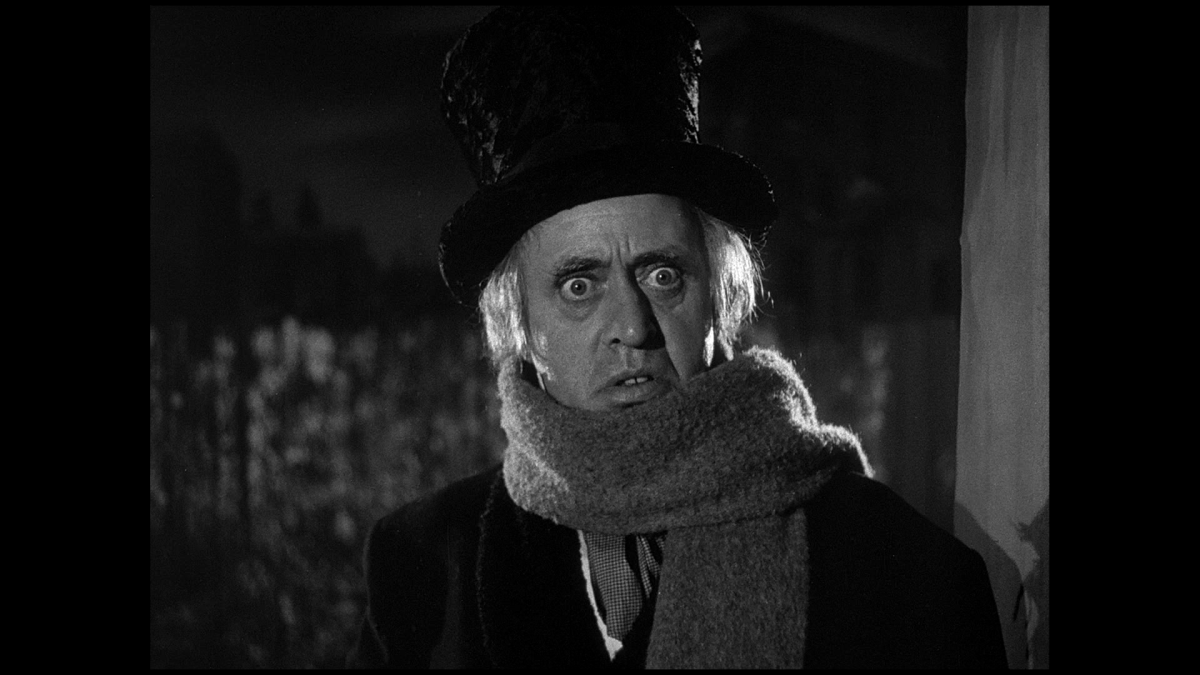 Alastair Sim in Scrooge, 1951.