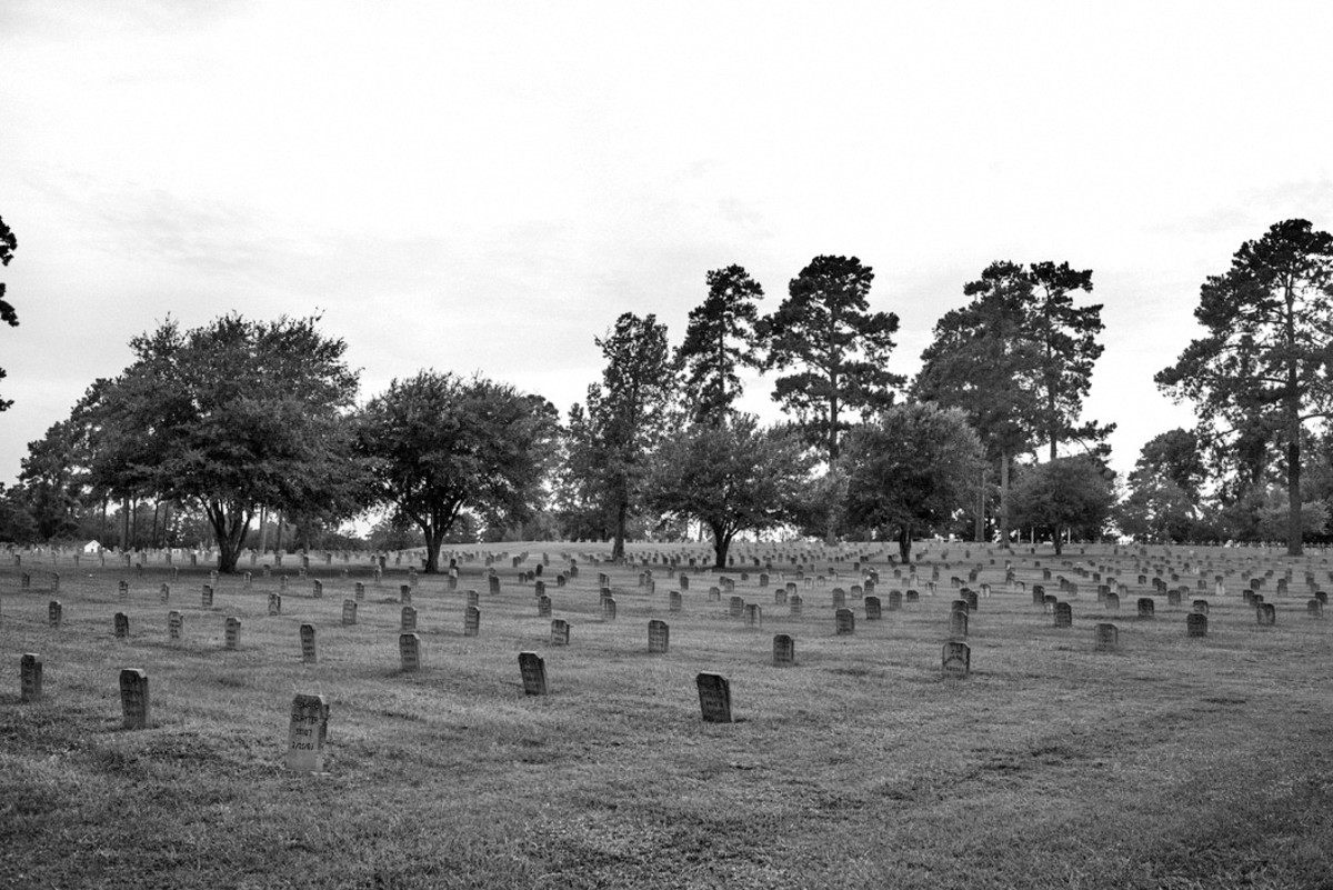The Captain Joe Byrd Cemetery in Huntsville, Texas.