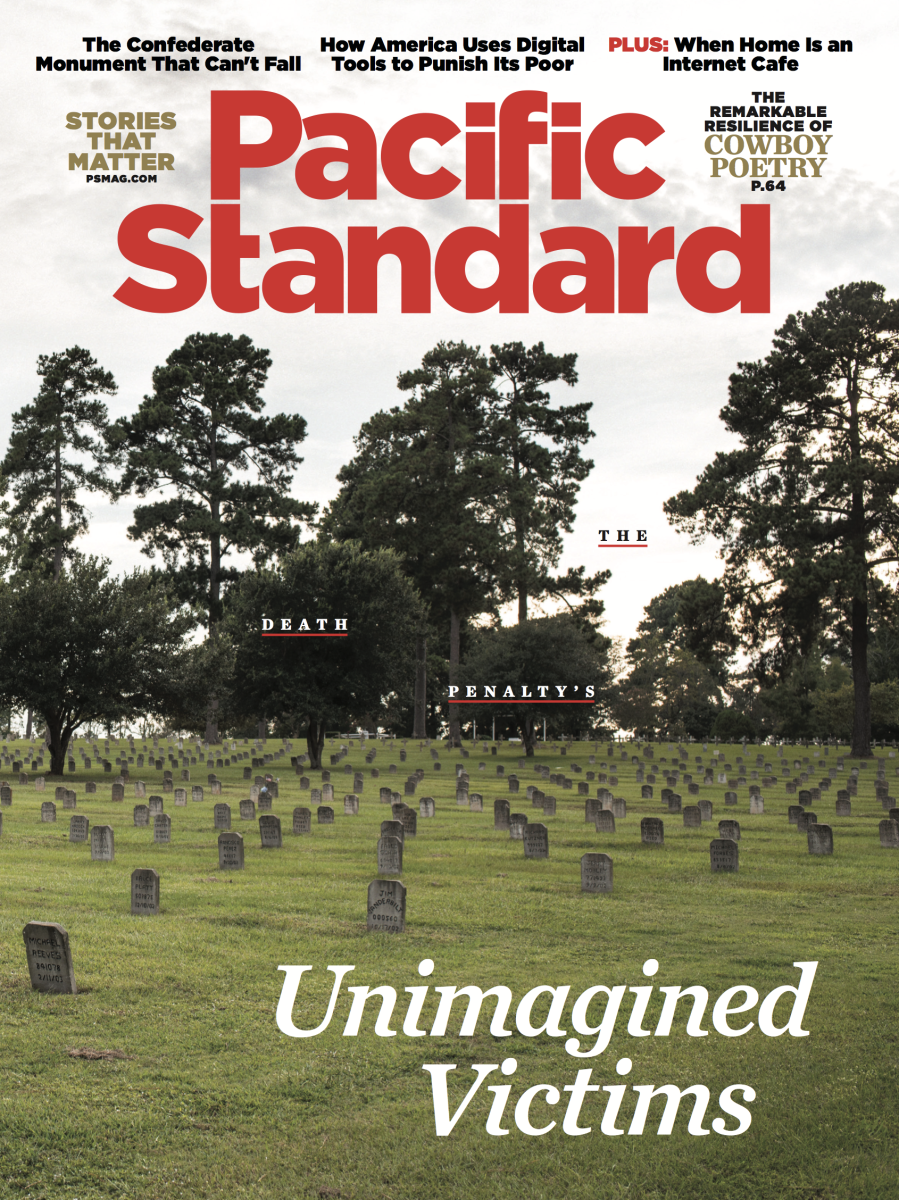 A version of this story originally appeared in the February 2018 issue of Pacific Standard. Subscribe now and get eight issues/year or purchase a single copy of the magazine.